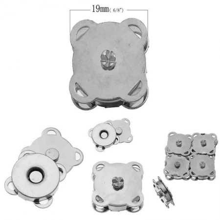 Broche Magnético 19 mm x 19 mm Pack 10 Pares